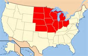 Midwest States Map by Fault Lines In The United States Midwest