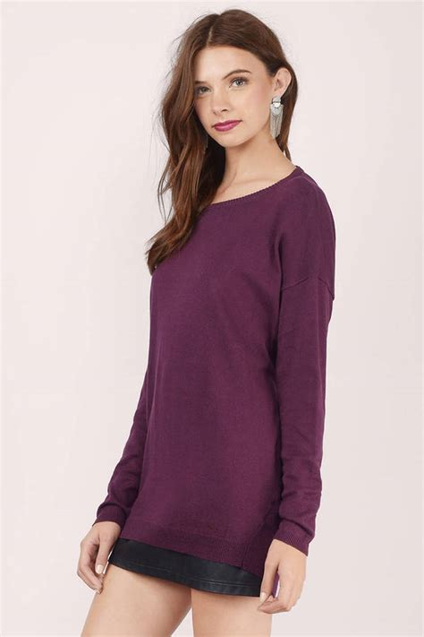 burgundy boat neck sweater burgundy sweater boat neck sweater twist back sweater