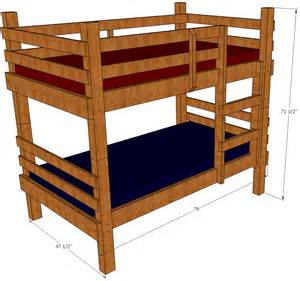 How To Make A Bunk Bed Bunk Bed Plans Save Money And Space By Building Your Own