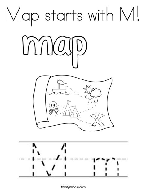 coloring pages that start with the letter m map starts with m coloring page twisty noodle