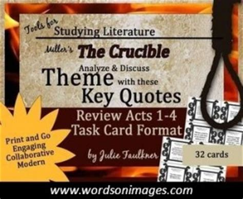 themes of the crucible and quotes the crucible great quotes quotesgram