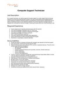 Description For Application Support by Automotive Technician Description