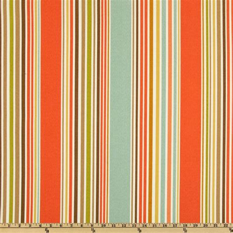 Buy Upholstery by P Kaufmann Indoor Outdoor Deck Chair Stripe Shell Aqua