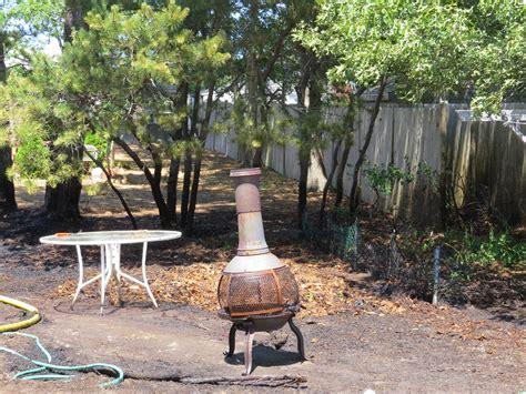 backyard chiminea video backyard chiminea sparks grass and structure fire