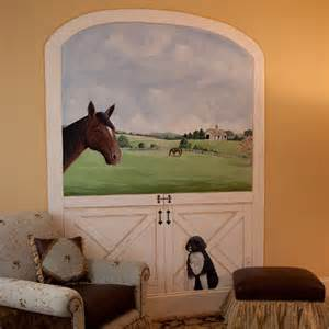 Horse Themed Bedroom Ideas horse stable mural and custom design services inspiration