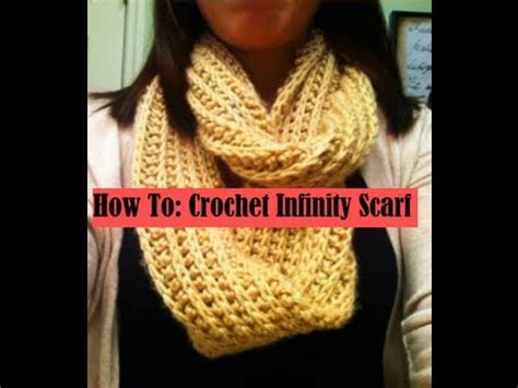 youtube tutorial for infinity scarf scialle infinity o moebius all uncinetto funnycat tv