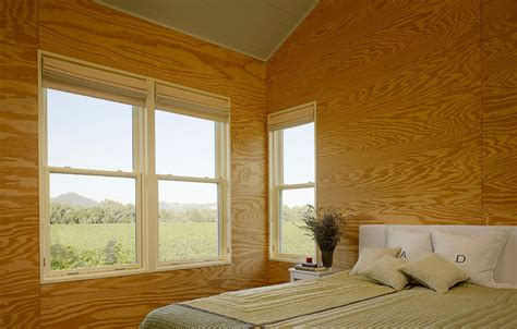 Plywood Interior Wall Finish by West Creek Residence Farmhouse Bedroom San