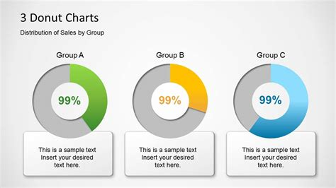 powerpoint review templates donut chart template for powerpoint slidemodel