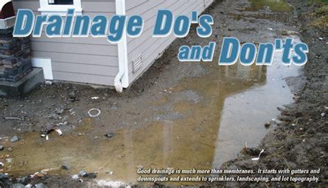 gravel around house drainage house plan 2017