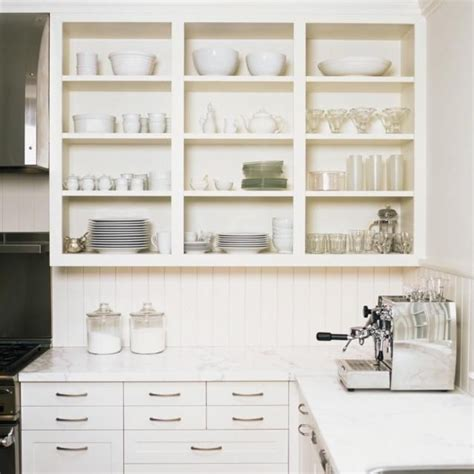 all white kitchen open shelves kitchen design ideas