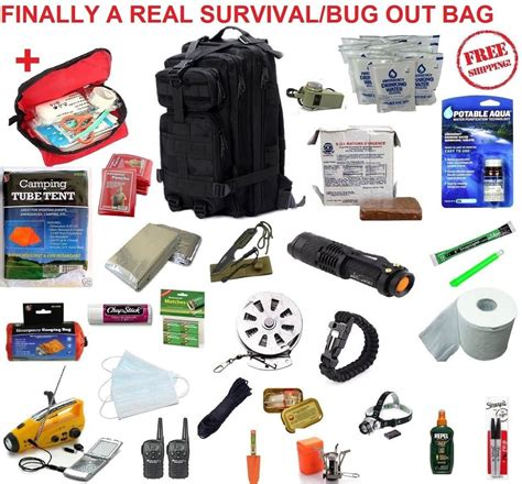 10 Day Disaster Emergency Survival Kit Bug Out Bag Earthquake Food W real 72 hour emergency survival kit disaster bug out bag