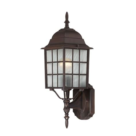 Outdoor Wall Light With White Glass In Rustic Bronze Rustic Outdoor Wall Lights