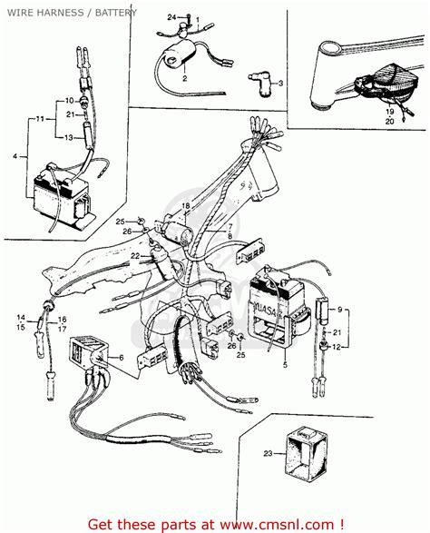 honda cl90 scrambler 90 1967 usa wire harness battery