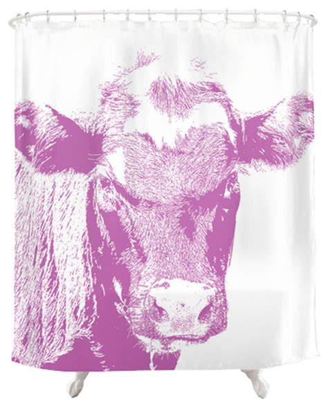 cow print kitchen curtains cow shower curtain pink contemporary shower curtains