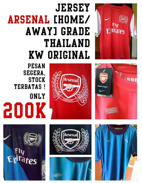 Jersey Grade Ori Thailand Arsenal Home 201719 jersey arsenal home away kw thailand grade original