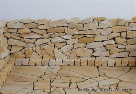 Steinbruch Steine Kaufen Preis by Sandstein Bruchsteine Gelb Beige Trockenmauer