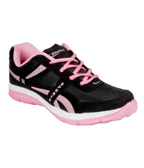 hitcolus black pink sport shoes price in india buy