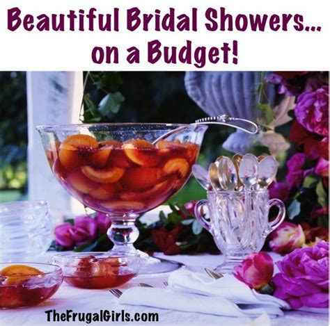 how to to throw a beautiful bridal shower on a budget