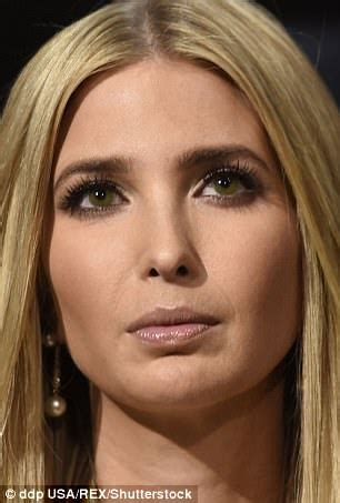 ivanka trump accused of using colored contacts | daily