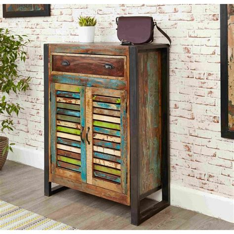 reclaimed wood storage cabinet chic reclaimed wood indian furniture shoe storage