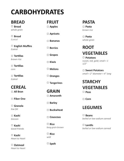 carbohydrates list list of bad carbs to eat 40 minutes workout