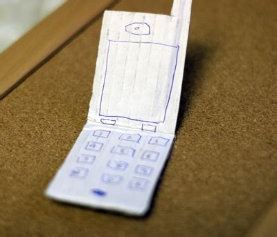 How To Make A Mobile Phone With Paper - with trash cardboard cell phones make and takes