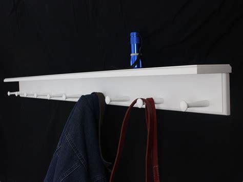 white shaker peg racks with shelf made in the usa