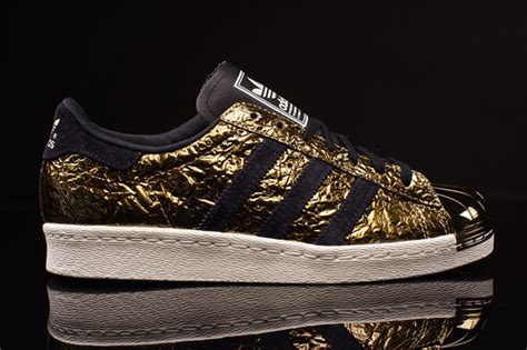 adidas superstar  metal toe gold foil sneakernewscom