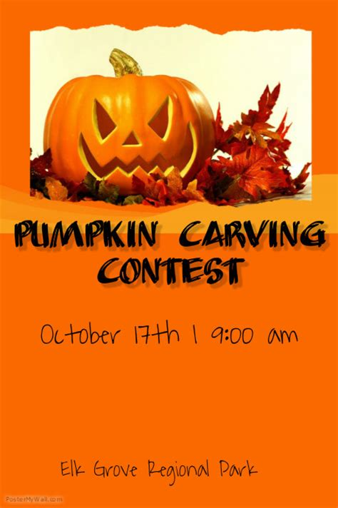 Pumpkin Carving Flyer