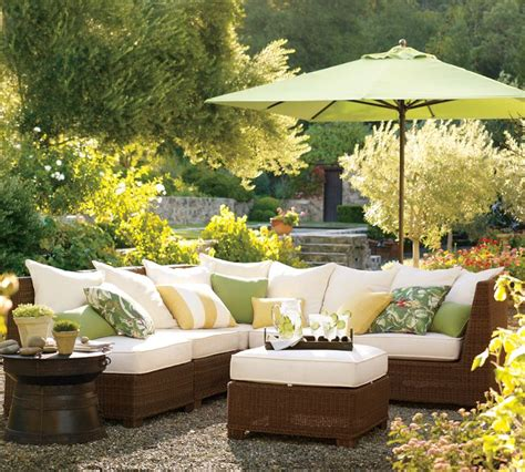 Garden Furniture Decor Designing Outdoor Living Room W Palmetto Sectional By Pottery Barn Modern Outdoors