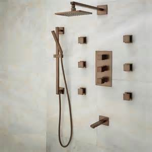 onassis thermostatic tub shower system 6 jets