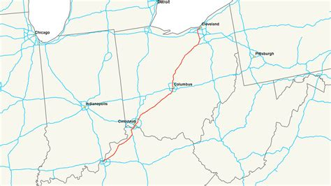 kentucky freeway map interstate 71