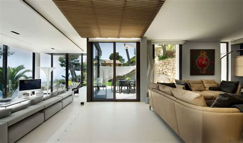 Living Room Glass Door Design Villa Living Room Design And Glass Door Olpos Design