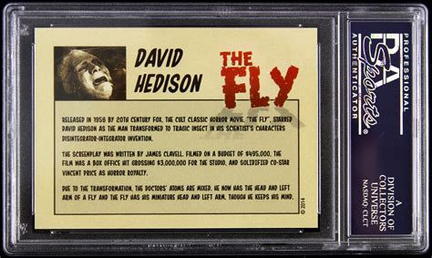 fly pattern trading cards lot detail 1958 david hedison the fly signed le trading