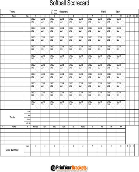 download softball score sheet for free formtemplate