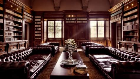 elegant leather furniture luxury home library old library