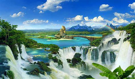imagenes bonitas de paisajes descargar gratis fondo escritorio paisaje bonitas cataratas