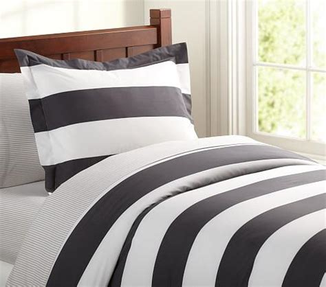 black white striped bedding rugby black white stripe duvet cover