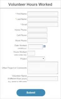 Volunteer Hours Log Template by Volunteer Management Discount Codes And Mobile Forms News