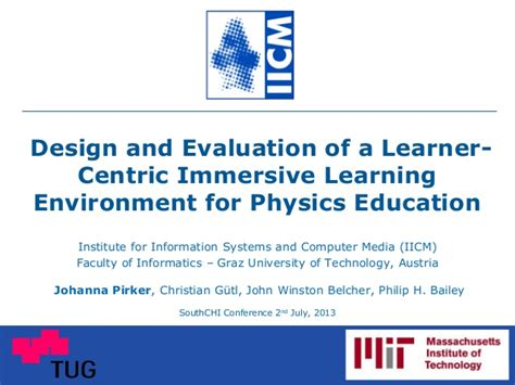 design for environment slideshare design and evaluation of a learner centric immersive