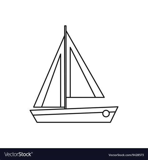 small boat icon small boat icon outline style royalty free vector image