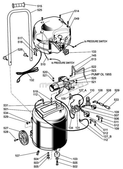 husky hfwk air compressor parts