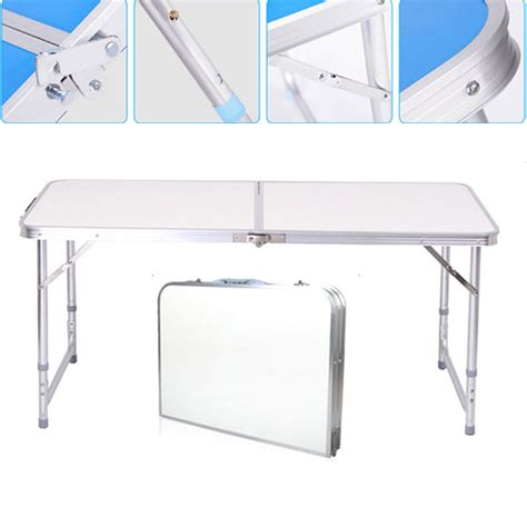 3 Foot Folding Table New 3 Portable Folding Table Outdoor Picnic Cing Table Adjustable
