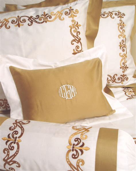 monogrammed coverlet monogrammed bed linens luxury monogrammed bedding