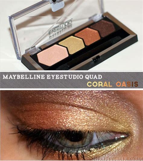 eyeshadow quad tutorial new maybelline eye studio color plush eyeshadow quad