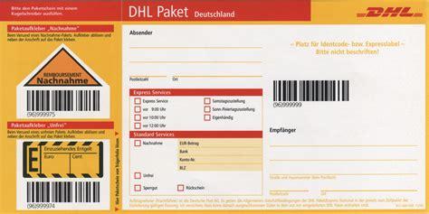 Adressaufkleber Drucken Deutsche Post by Paketkarte Dhl Tracking Support