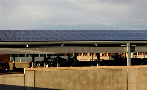 Solar Garage by Solar Panels On Parking Garage Picture Free Photograph