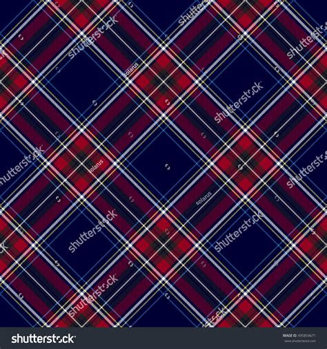 check pattern en francais blue red diagonal check plaid seamless stock vector