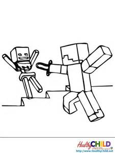 Printable Minecraft Mobs Coloring Pages sketch template