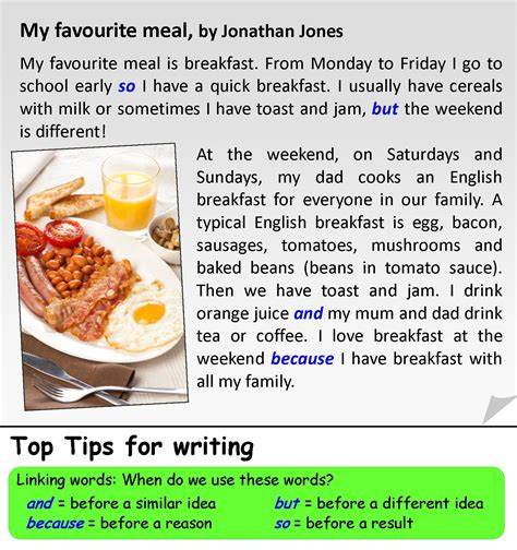 My Favorite Restaurant Essay by My Favourite Meal Learnenglishteens